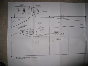 MT. SPRINGS oasis lots A-H Plan Map